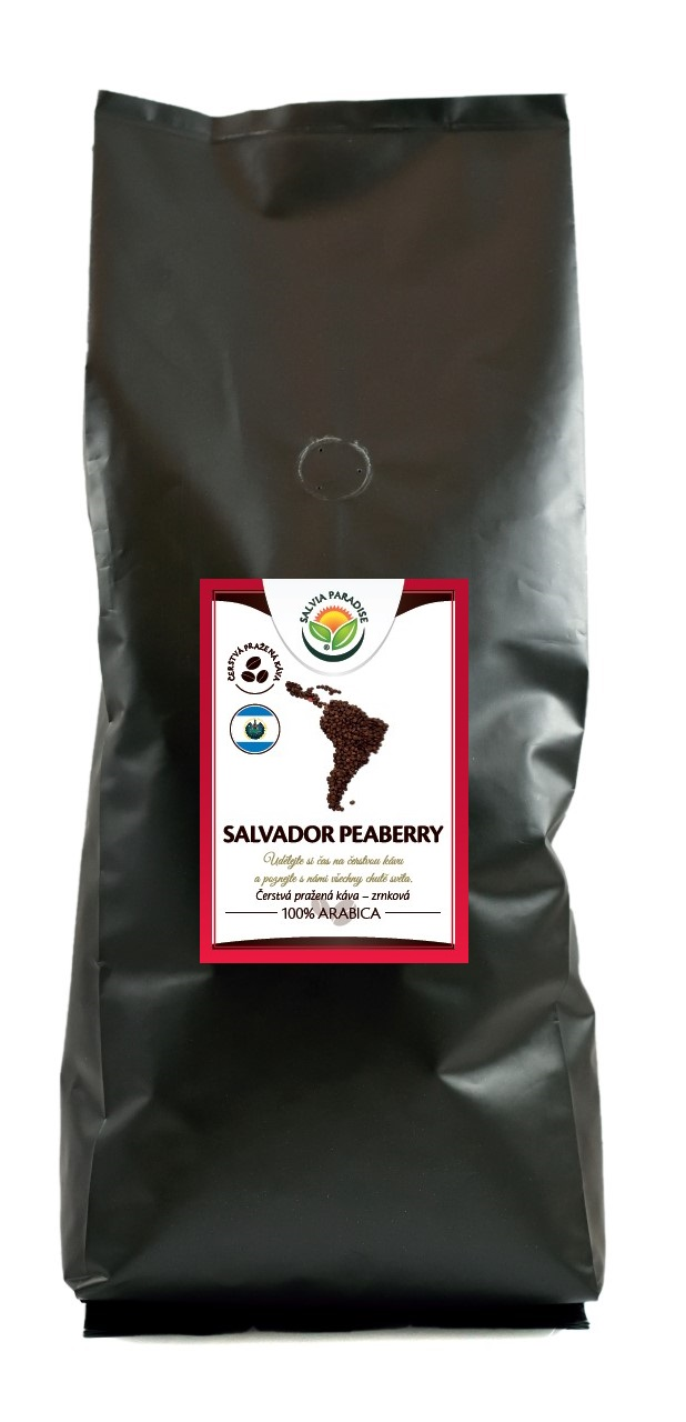 Salvia Paradise Káva - Salvador Peaberry Balení: 1000 g