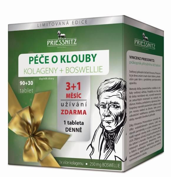 Simply You Priessnitz Péče o klouby Kolageny + Boswellie 90 tbl.+30 tbl. ZDARMA