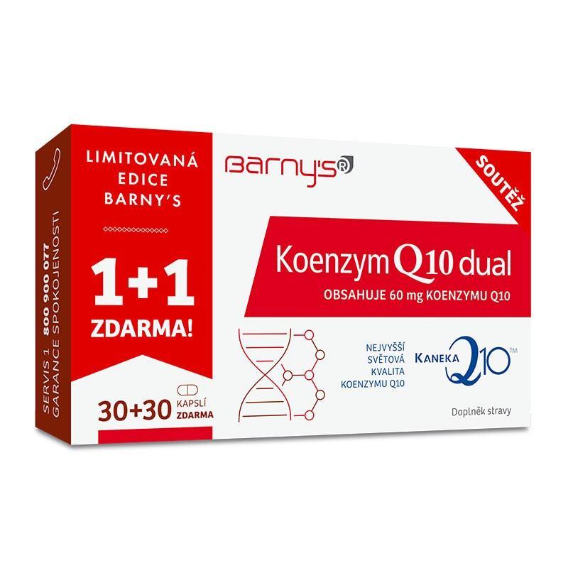 Barny´s Koenzym Q10 Dual 60mg 1+1 ZDARMA (30 kapslí + 30 kapslí)