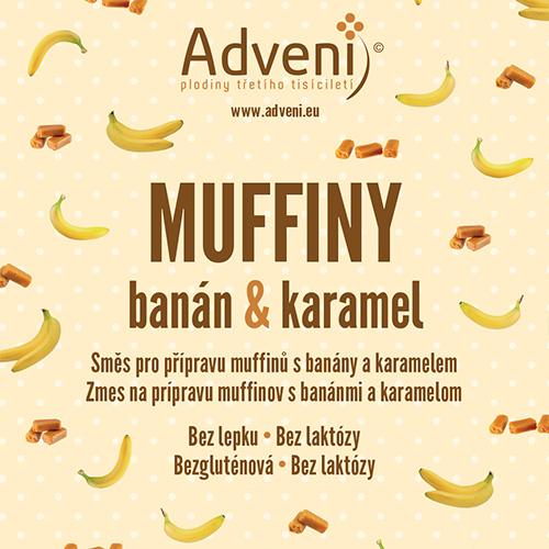 Adveni Muffiny banán & karamel 280 g