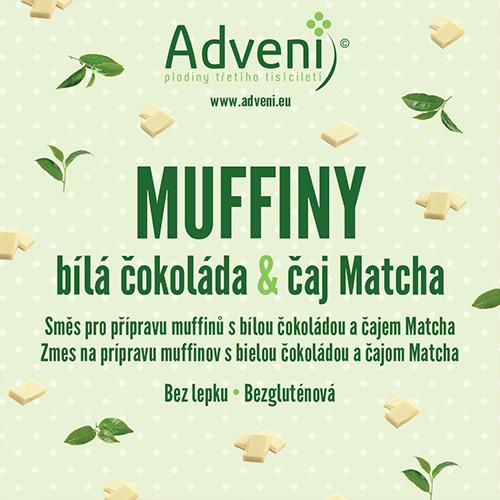 Adveni Muffiny bílá čokoláda & čaj Matcha 280 g
