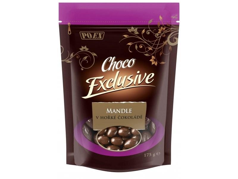 POEX Mandle v hořké čokoládě 175 g