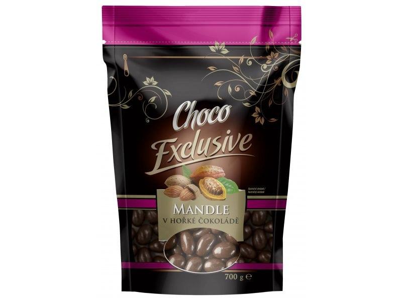 POEX Mandle v hořké čokoládě 700 g