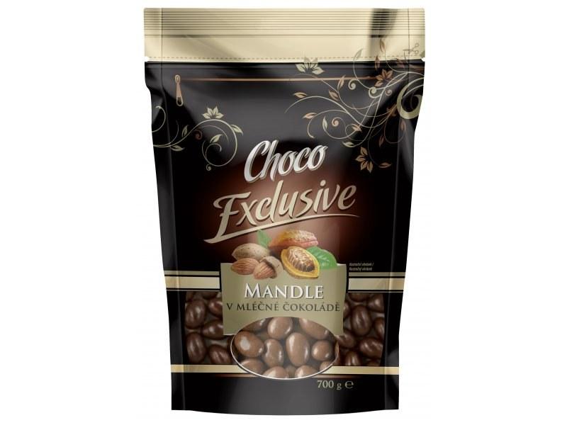 POEX Mandle v mléčné čokoládě 700 g