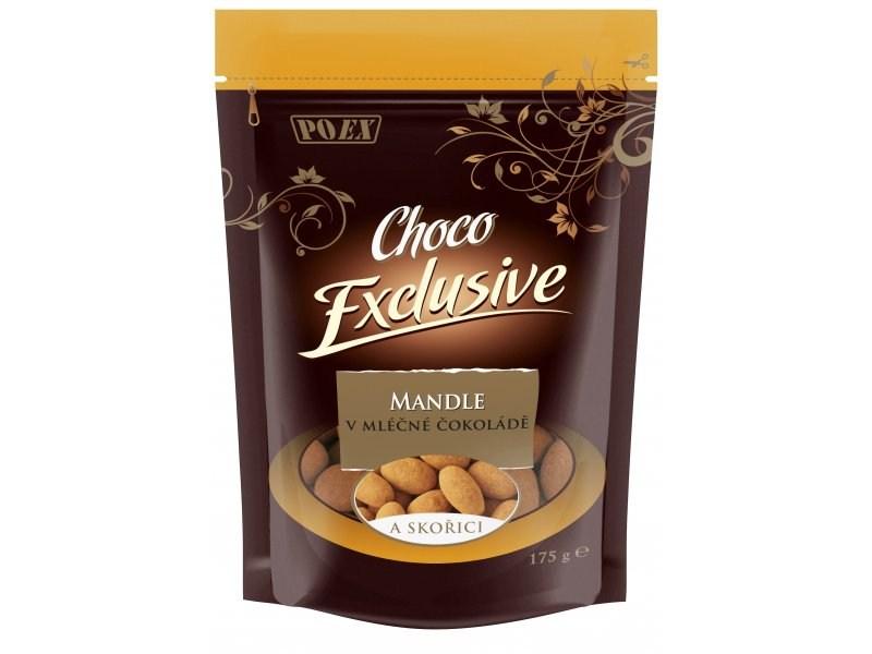 POEX Mandle v mléčné čokoládě se skořicí 175 g