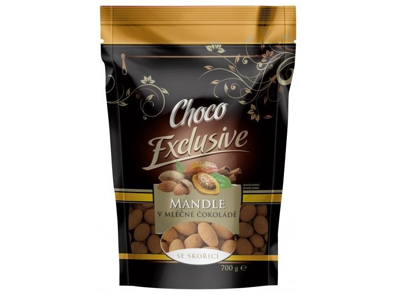 POEX Mandle v mléčné čokoládě se skořicí 700 g
