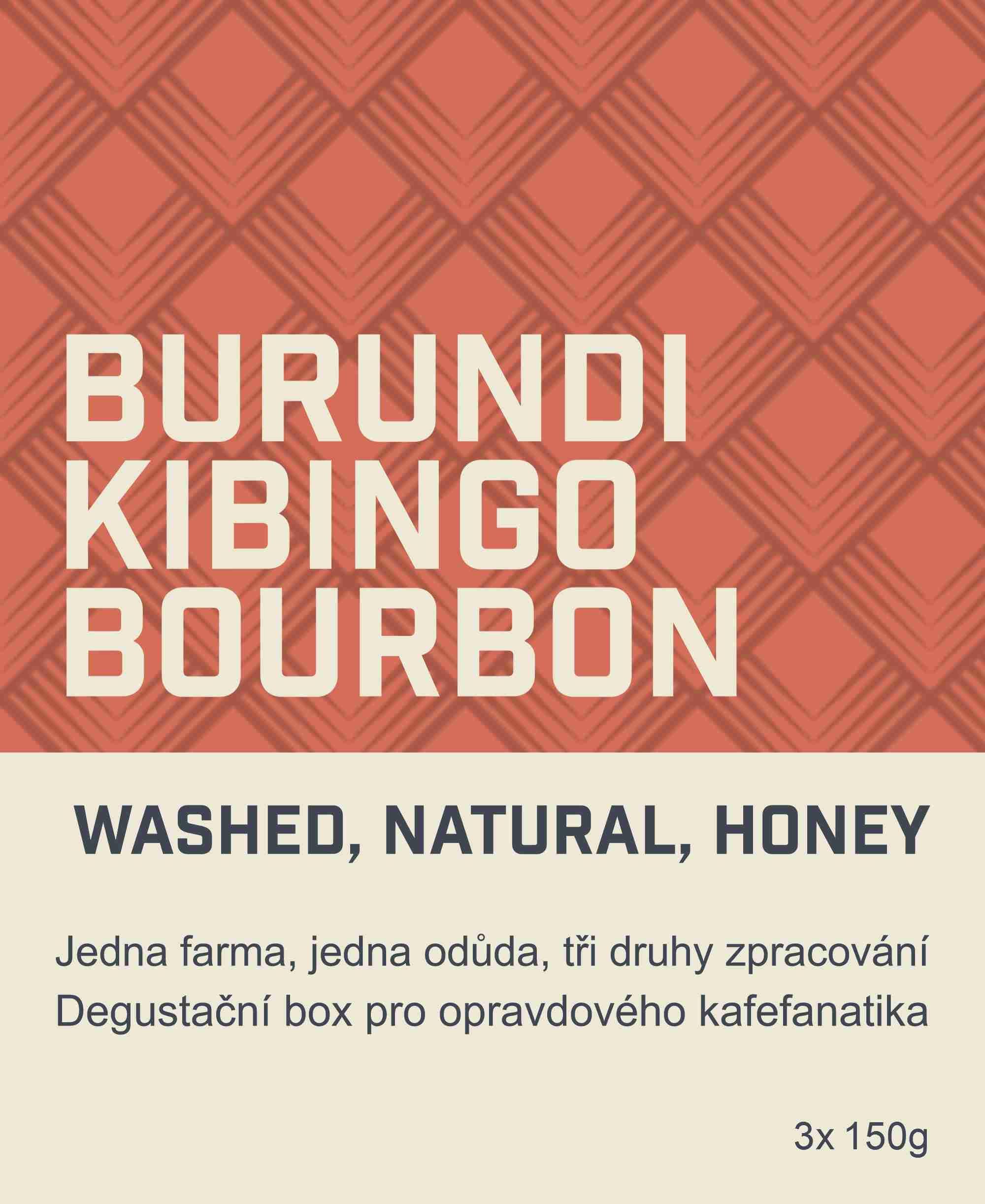 Coffeespot Burundi Kibingo degustační box 3x 150 g