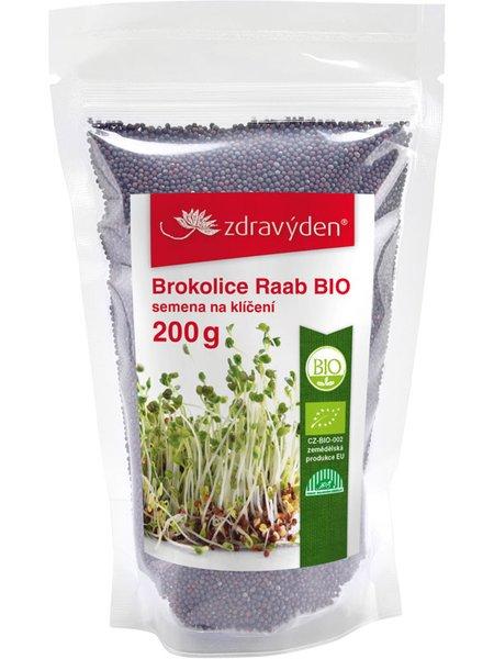 ZdravýDen® BIO Brokolice Raab - semena na klíčení 200 g