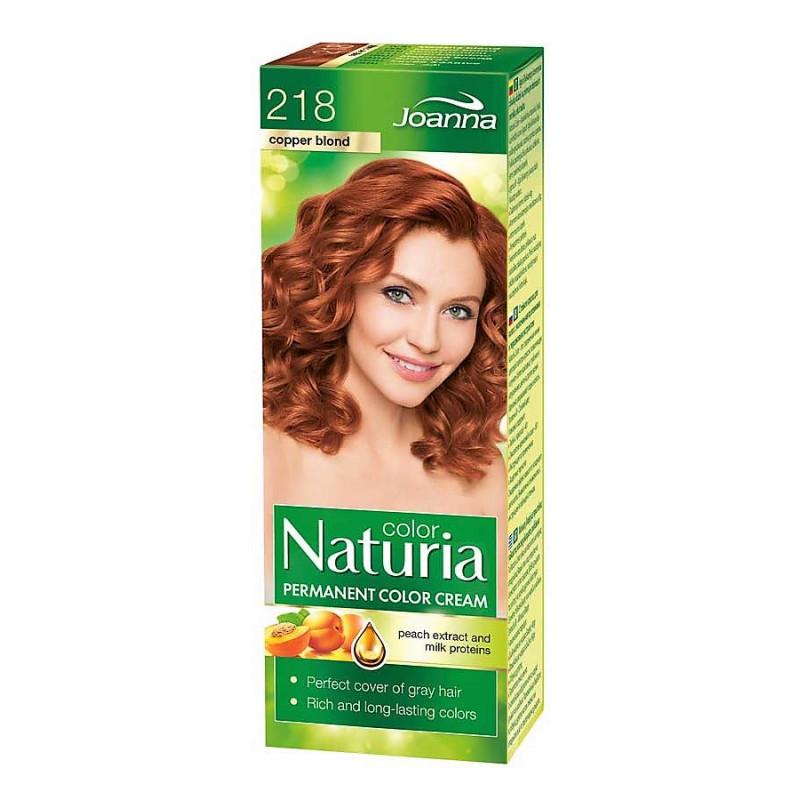 Joanna Naturia Color Permanentní barva na vlasy 100 g Odstín: 218 Měděná