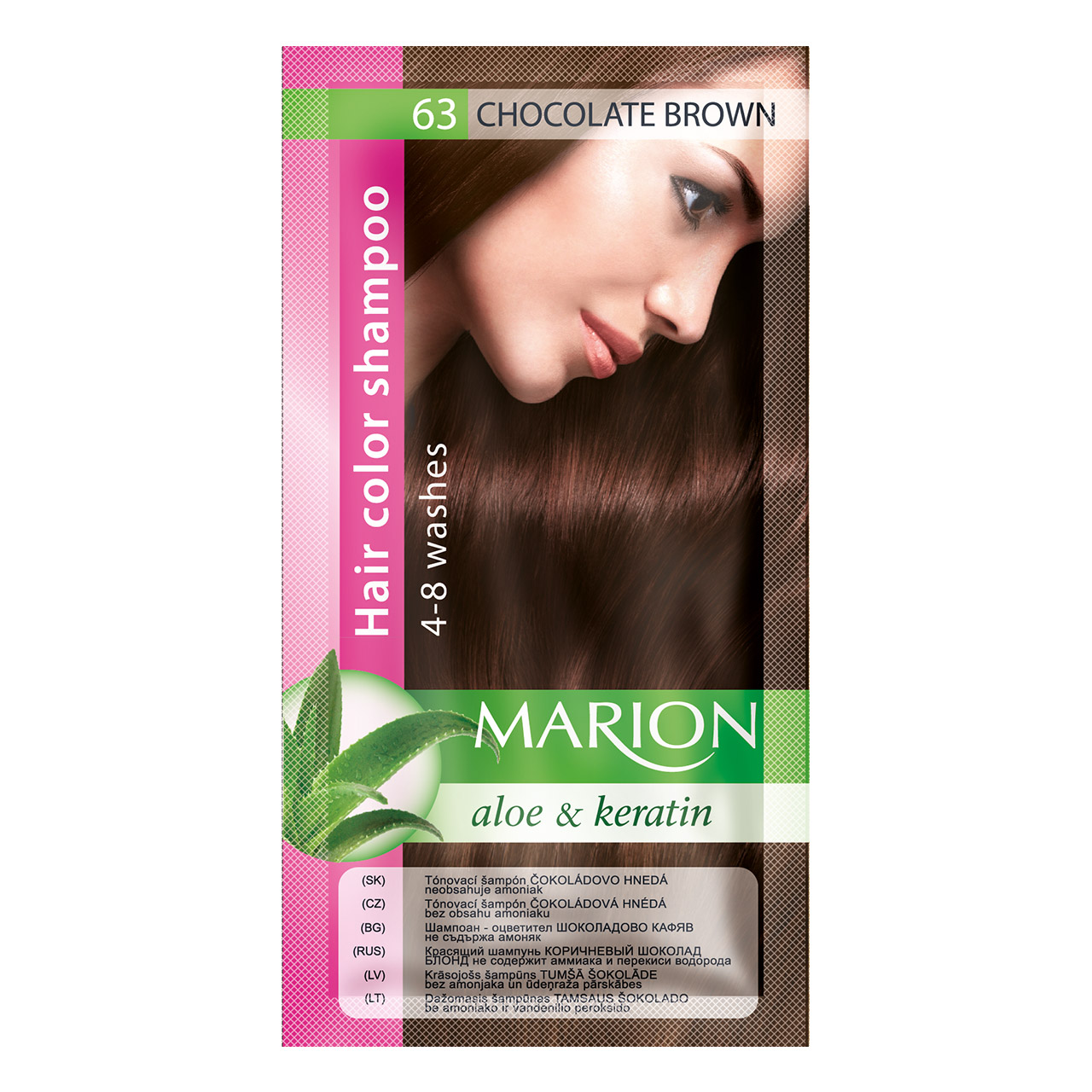 Marion Tónovací šampón 40 ml Odstín: 63 Čokoládová hnědá