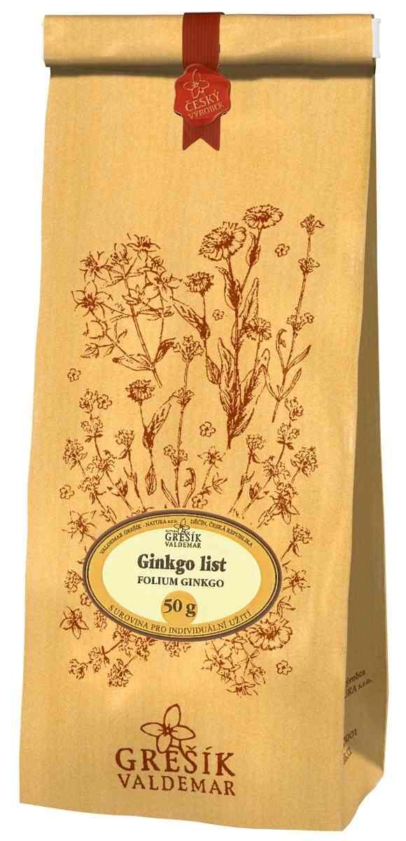 Grešík Ginkgo list čaj sypaný 50 g Devatero bylin