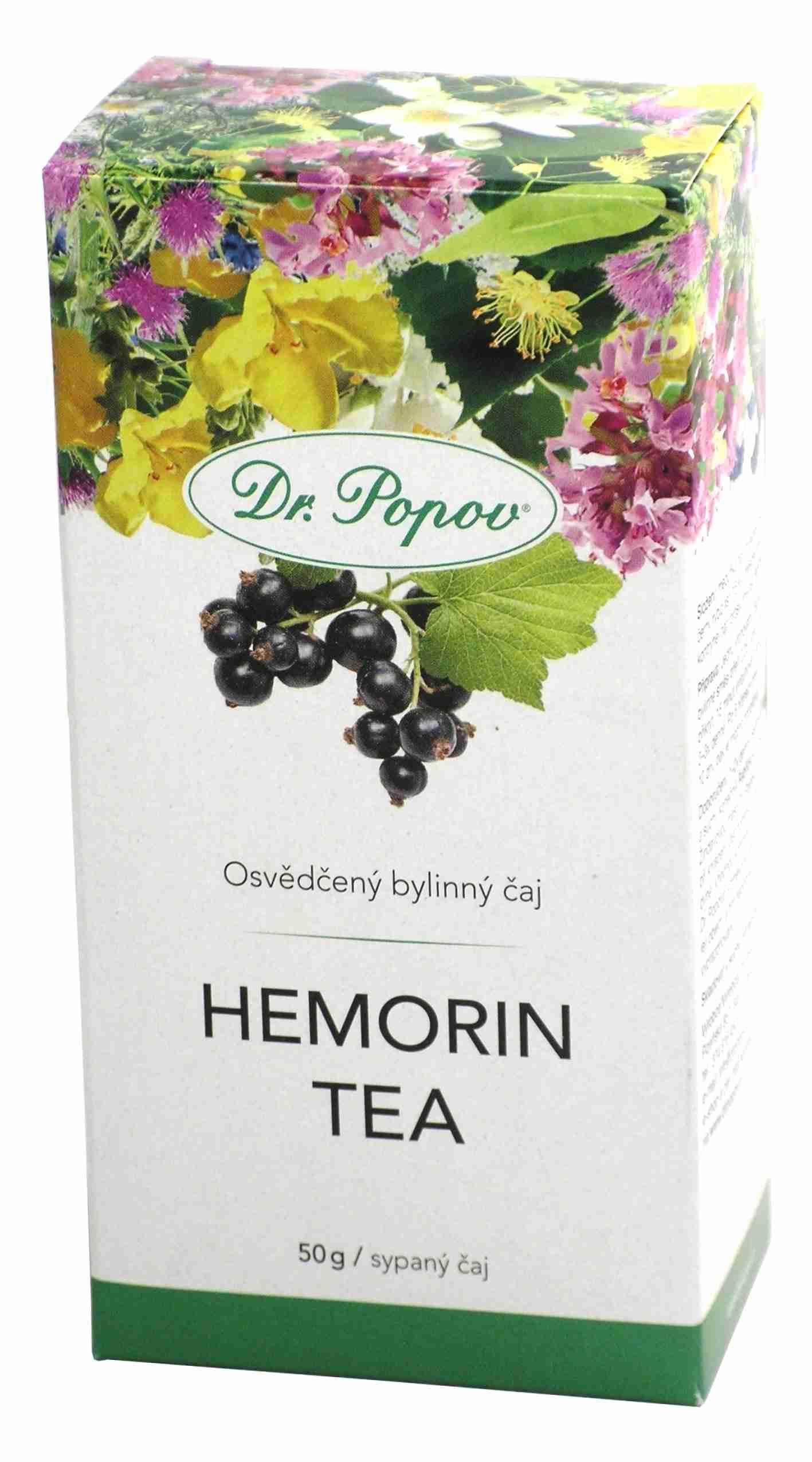 Dr. Popov Hemorin tea sypaný 50 g