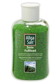 Allga San Kosodřevinová solanková koupel na nohy 350 g