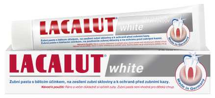 Lacalut White zubní pasta bělící bez peroxidu 75 ml
