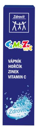Zdrovit Ca + Mg + Zn + vitamín C šumivé tablety 20 tbl.