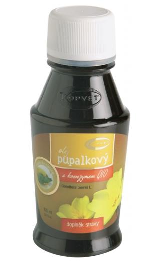 Topvet Olej pupalkový s koenzymem Q10 100% 100 ml