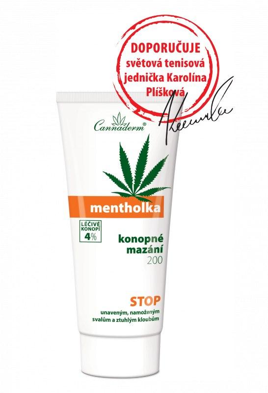 Cannaderm Konopné mazání Mentholka 200 ml