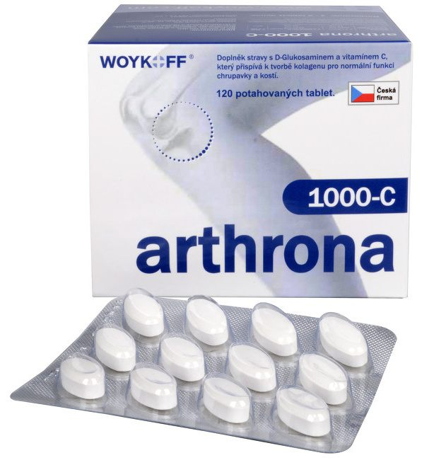 Woykoff Arthrona 1000-C 120 tbl. + Ginkgo Comfort 60 mg SR 60 tbl. ZDARMA