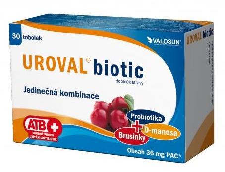 Valosun Uroval biotic 30 tob.