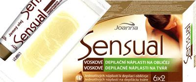 Joanna Sensual Vosková depilační náplast na obličej 12ks