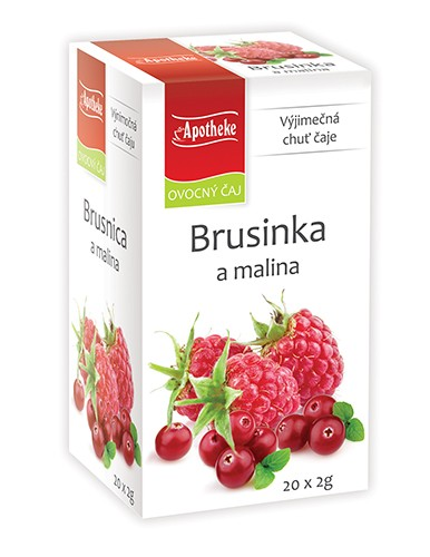 Apotheke Brusinka a malina čaj 20x2g