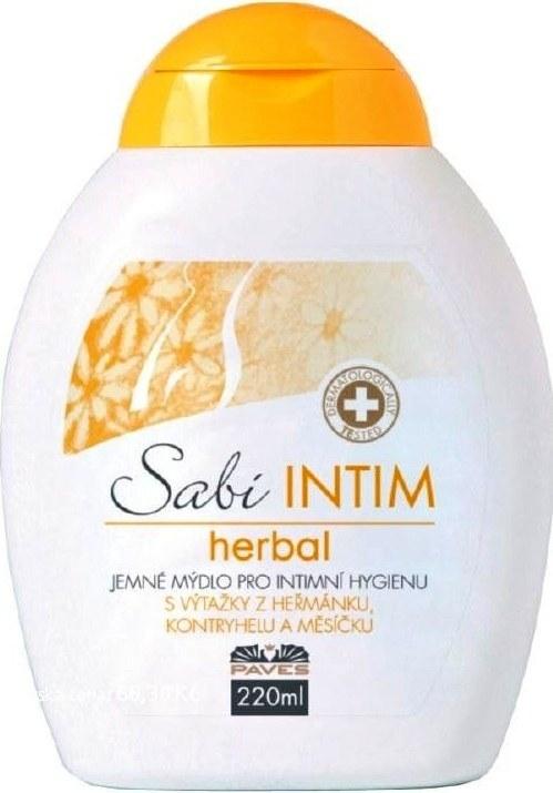 Paves Olomouc Sabi Intim Herbal Bylinné mýdlo pro intimní hygienu s výtažkem z měsíčku 200 ml