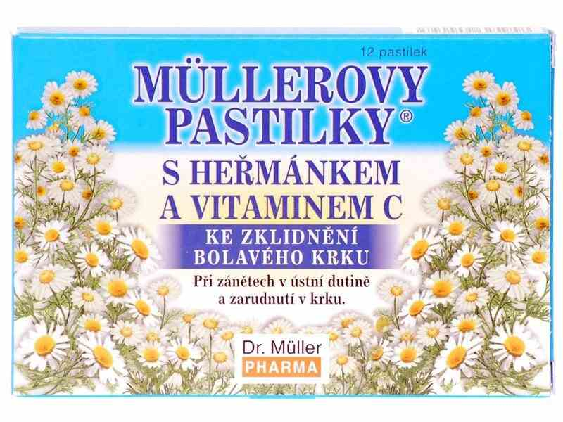 Dr. Müller Dr. Muller Müllerovy pastilky s heřmánkem 12ks