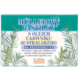 Dr. Müller Dr. Muller Müllerovy pastilky s olejem čajovníku australského 12ks