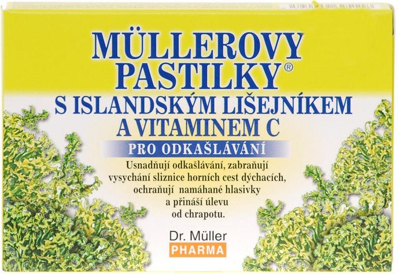 Dr. Müller Dr. Muller Müllerovy pastilky s islandským lišejníkem 12ks