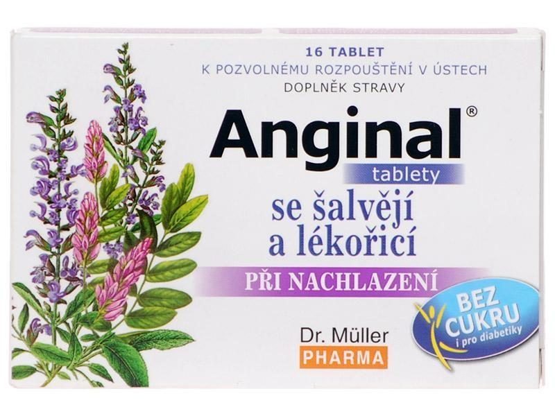 Dr. Müller Dr. Muller Anginal tablety se šalvějí a lékořicí 16 tbl.