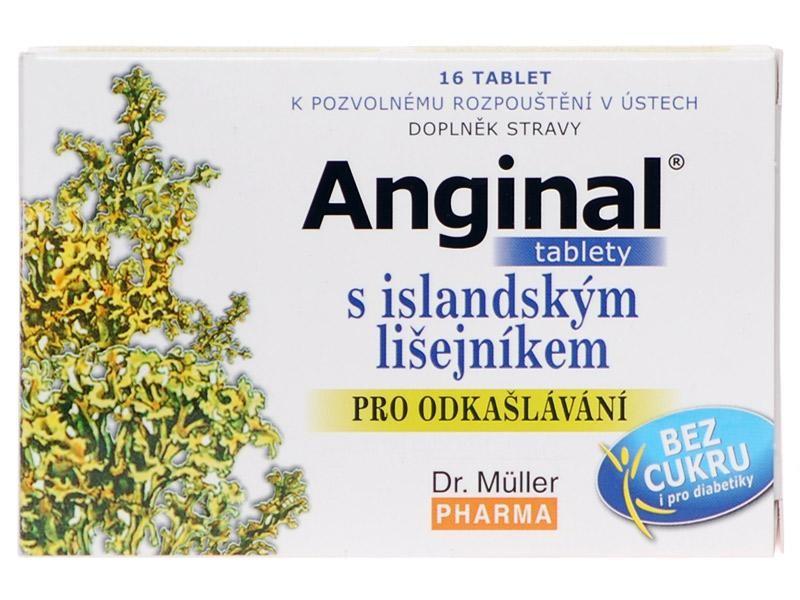Dr. Müller Dr. Muller Anginal tablety s islandským lišejníkem 16 tbl.