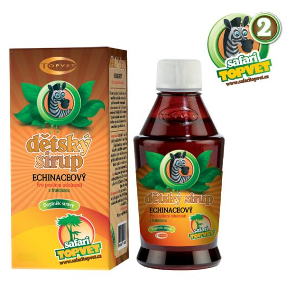 Safari Topvet Echinaceový dětský sirup s fruktozou 300 g