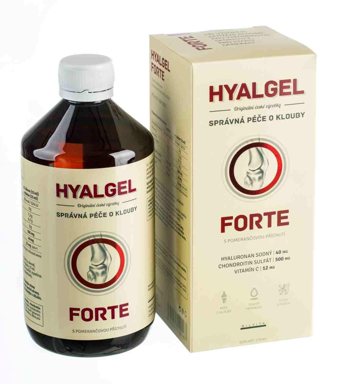 Silvita Hyalgel forte s pomerančovou příchutí 500 ml