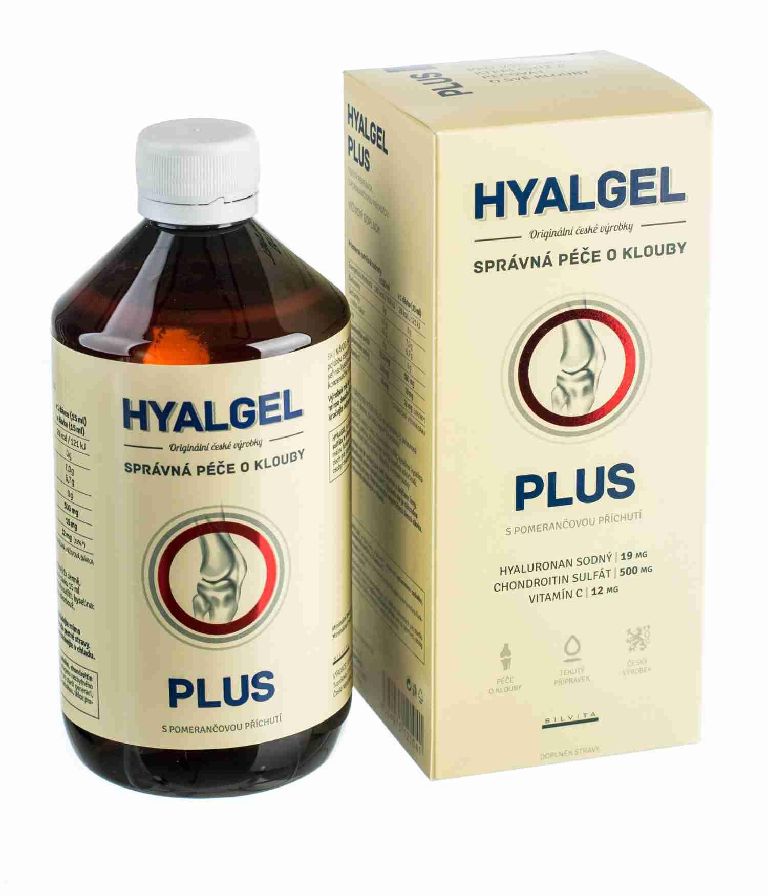 Silvita Hyalgel plus s pomerančovou příchutí 500 ml