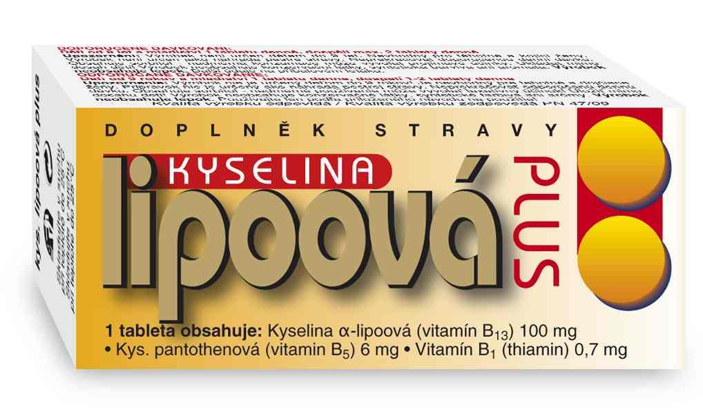 Naturvita Kyselina lipoová Plus 60 tbl.