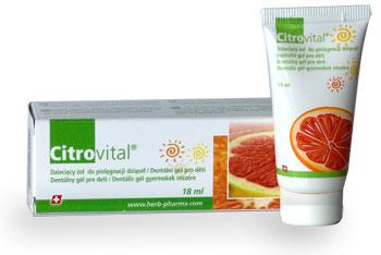 Herb Pharma Citrovital dětský dentální gel 18 ml