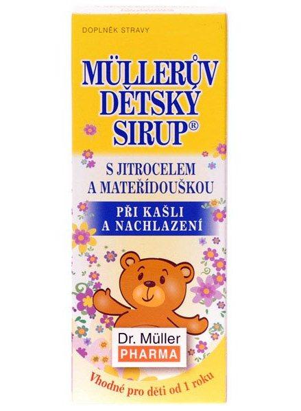 Dr. Müller Dr. Muller Müllerův dětský sirup s jitrocelem a mateřídouškou 130g