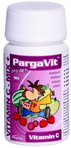 Simply You PargaVit Vitamín C Mix Plus pro děti 90 tbl.