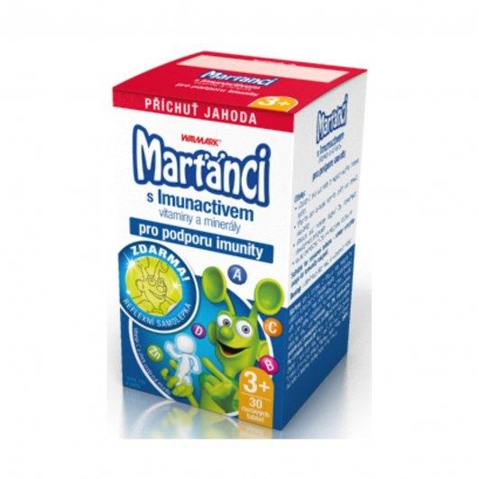 Walmark Marťánci s Imunactivem Jahoda 30 tbl.