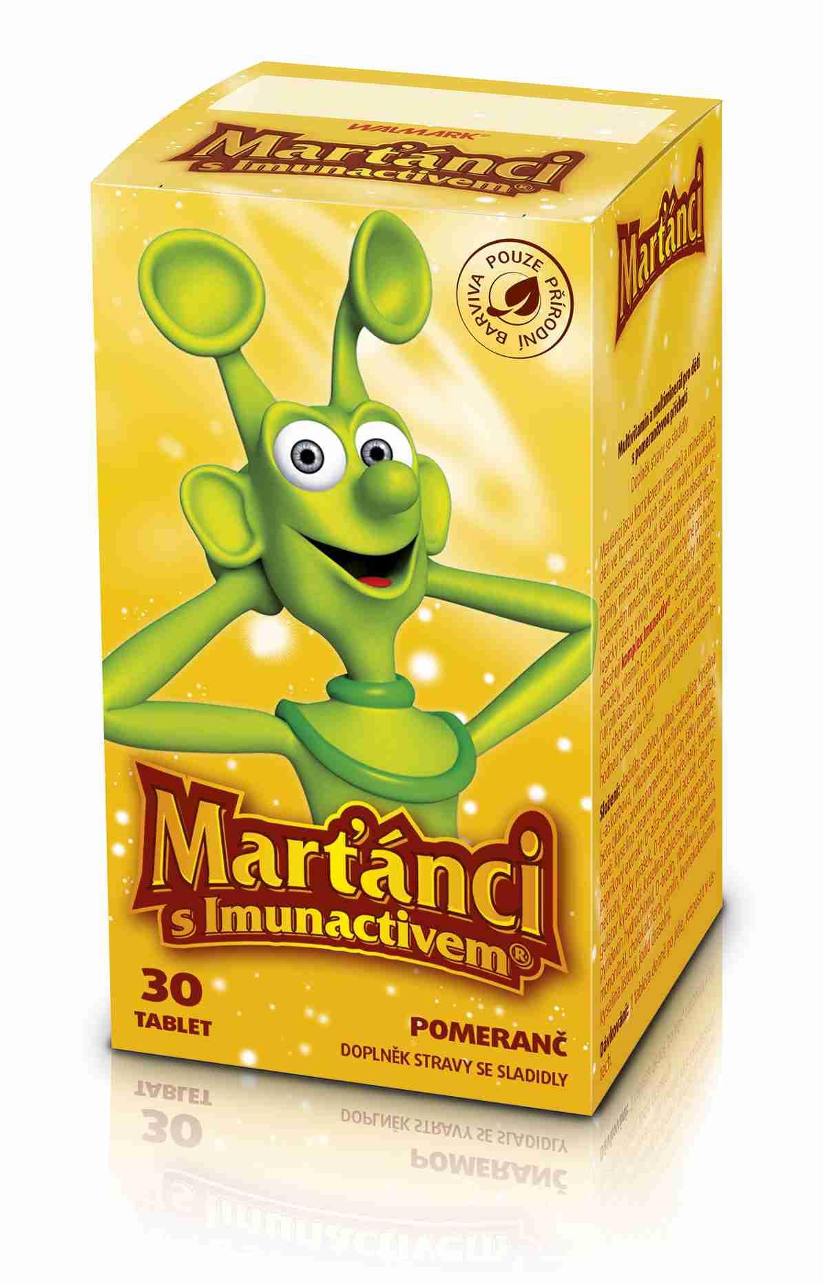 Walmark Marťánci s Imunactivem Pomeranč 30 tbl.