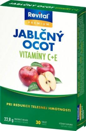 Vitar Revital Jablečný ocet + vitamin C + vitamin E 30 tbl.