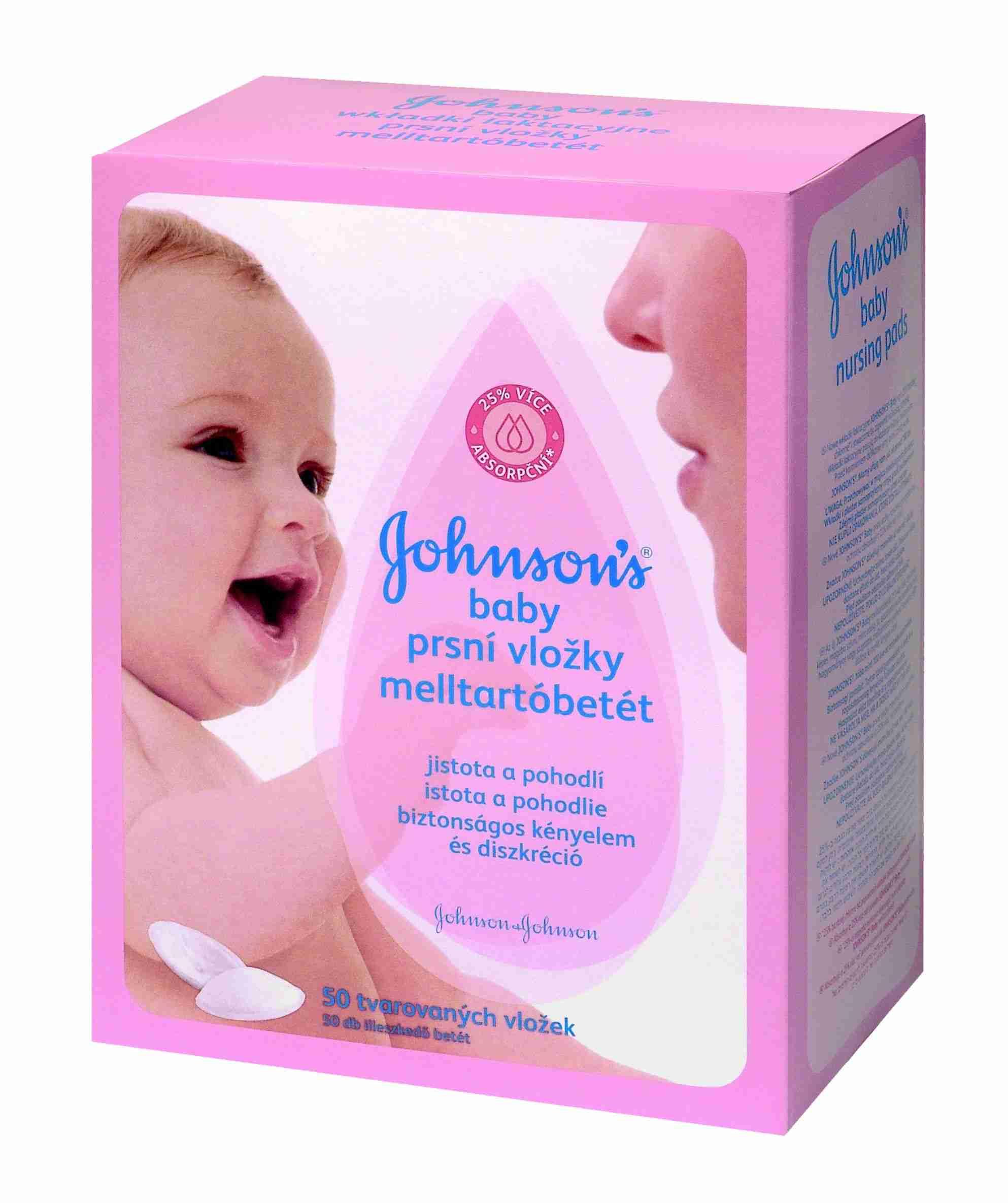 Johnson & Johnson Johnson Baby prsní vložky pro kojící matky 50ks