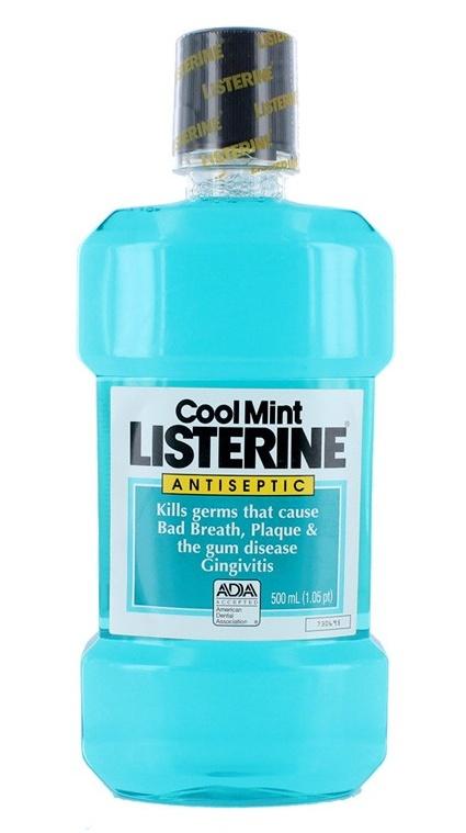 Listerine Ústní voda proti zubnímu povlaku Coolmint 500 ml