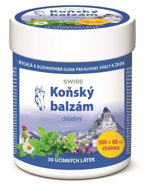 Simply You Koňský balzám SWISS chladivý 500 ml+ 50 ml