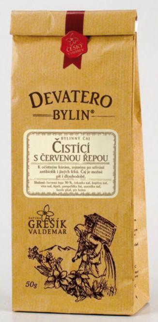 Grešík Čistící s červenou řepou čaj sypaný 50 g Devatero bylin