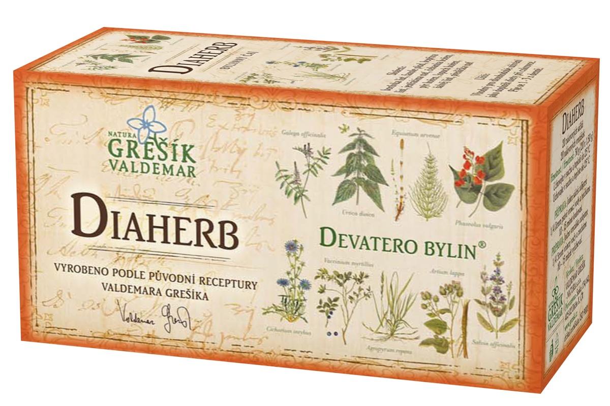 Grešík Diaherb čaj n.s. 20x1.5g Devatero bylin