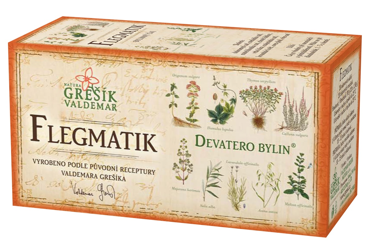 Grešík Flegmatik čaj n.s. 20x1.5g Devatero bylin