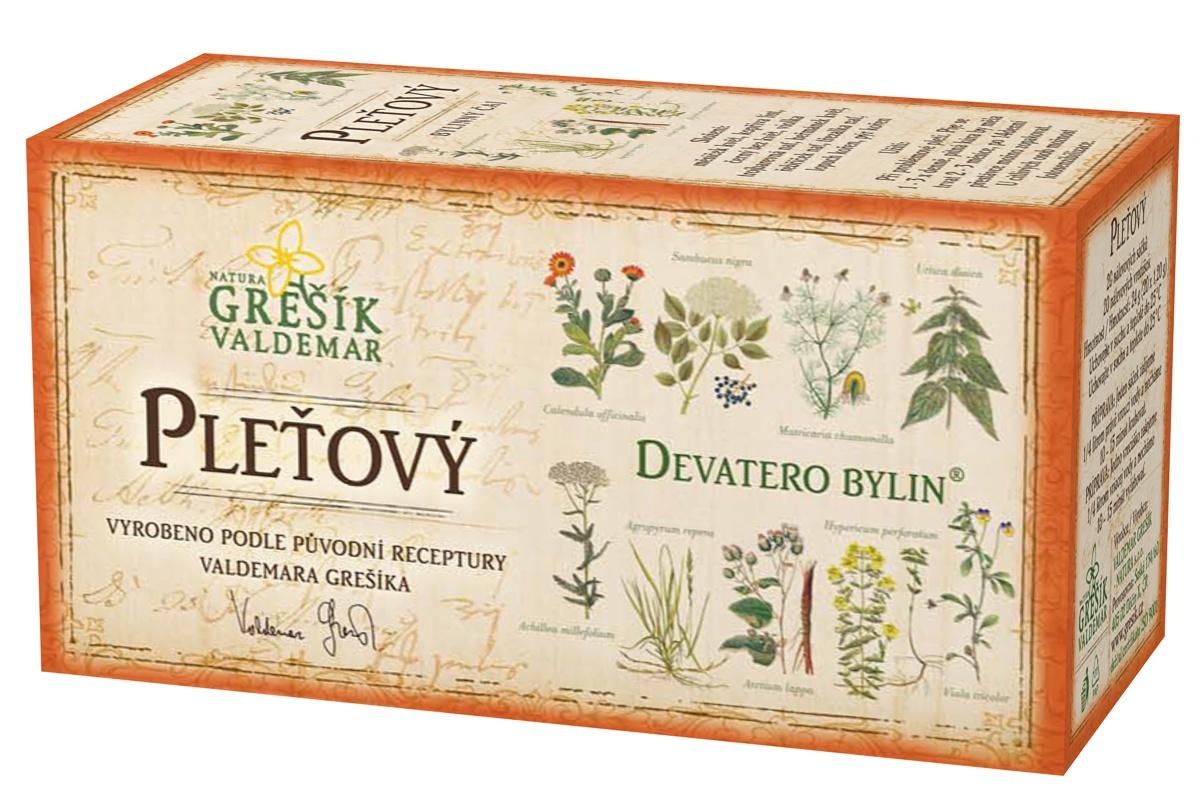 Grešík Pleťový čaj n.s. 20x1.2g Devatero bylin