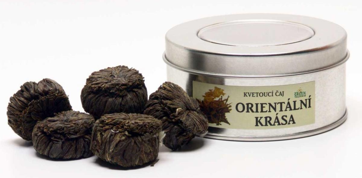 Grešík Orientální krása kvetoucí čaj v plechu 7 ks