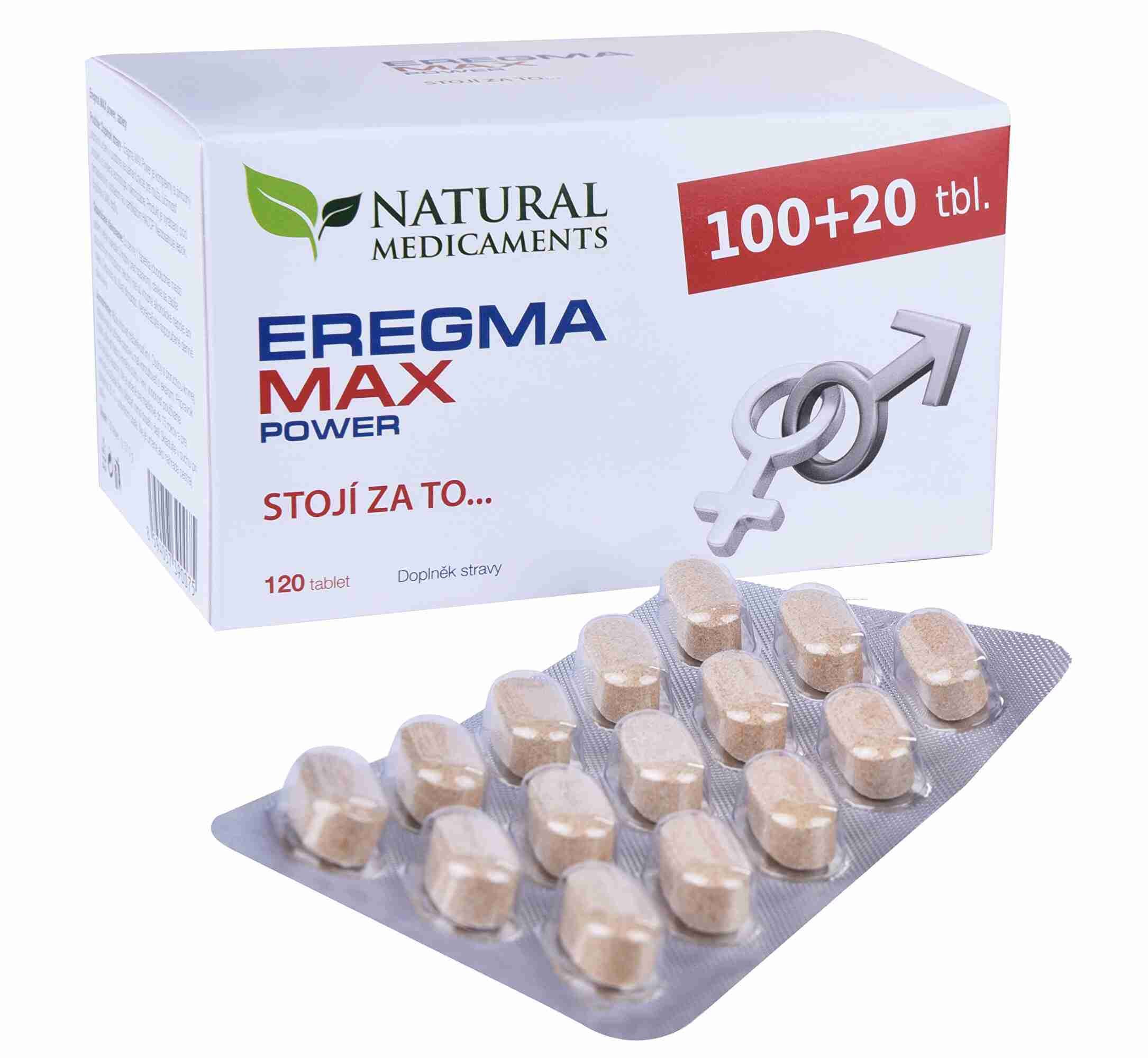 Natural Medicaments Eregma MAX power 100 tbl. + 20 tbl. ZDARMA